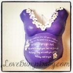 Belly Cast - Purple with flowers